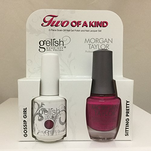 Gelish Core Duo Gossip Girl and Sitting Pretty Nail Polish