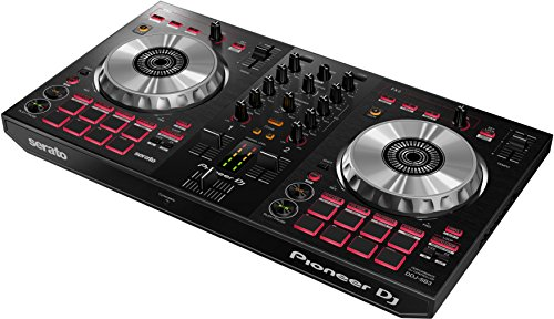 Pioneer DJ – Controlador de DJ de 2 canales para Serato DJ Lite – Mixer – Accesorio para DJ – Pad Scratch – Dos platillos de aluminio grandes