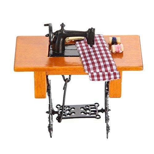 Tissue Fish Craft Kit (BUNITA,,Retro Sewing Machine with Thread Scissors Wood Metal Dollhouse Accessories Model Pretend Play Toy)
