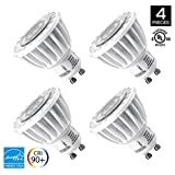 Hyperikon MR16 GU10, LED 7W (50W equivalent), 400 lumen, 2700K (Warm White), CRI 90+, 120 Volt, 40° Beam Angle, Dimmable, UL-listed and ENERGY STAR Qualified - (Pack of 4)