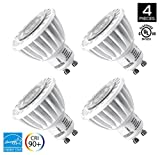 Hyperikon MR16 GU10, Dimmable LED 7W (50W equivalent), 460 lumen, 5000K (Crystal White Glow), CRI 90+, ENERGY STAR, Pack of 4