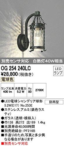 オーデリック エクステリアライト ポーチライト 【OG 254 240LC】OG254240LC B01AHQCF86 14276