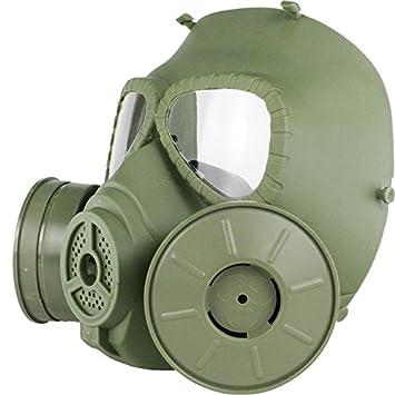 haoYK Máscara antigas simulada de, máscara de cara M04 con ventilador doble, para protección de paintball, airsoft (OD Verde): Amazon.es: Deportes y aire ...