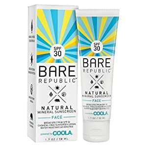 Bare Republic Mineral Face Sunscreen Lotion SPF 30 1.7oz