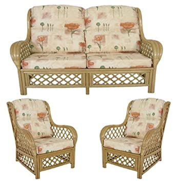 Cane Conservatory Furniture Cushions Only Full Suite Poppy Natural