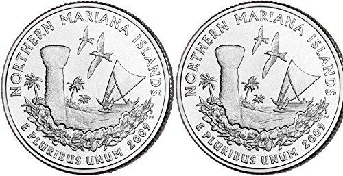 2009 Mariana Islands Quarters (Philadelphia & Denver Mints) Uncirculated ()