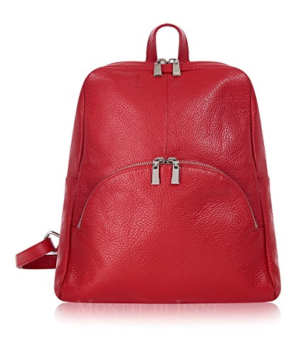 Soft Di Italian Red Leather Montte Backpack 100 Jinne dqwffX