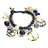 Best Rosemarie Collections Charm Bracelets - Rosemarie Collections Women's Navy Blue Nautical Anchor Charm Review