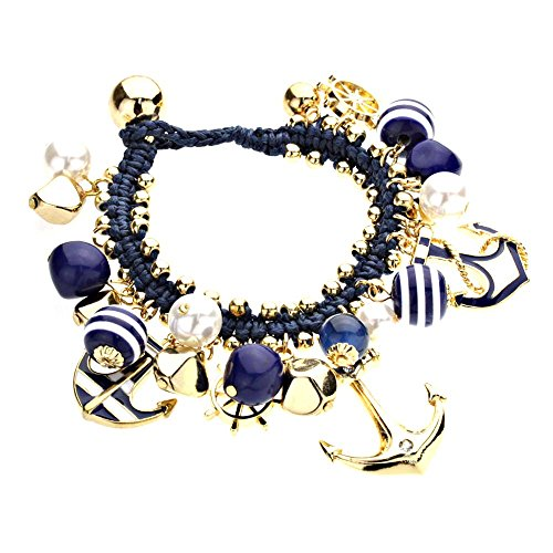 rosemarie-collections-womens-navy-blue-nautical-anchor-charm-bracelet-gold-tone