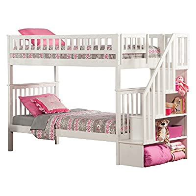 Atlantic Furniture Woodland Staircase Bunk Bed with UBD