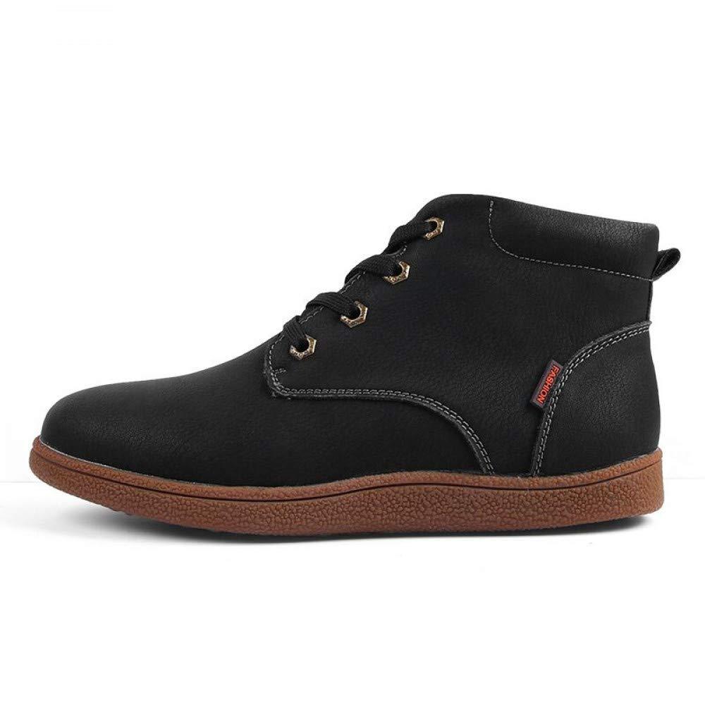 FHCGMX Mode Männer Stiefel Hohe Qualität Split Leder Knöchel Schnee Stiefel Schuhe Warme Lace-Up Winter Schuhe Plus größe 3846
