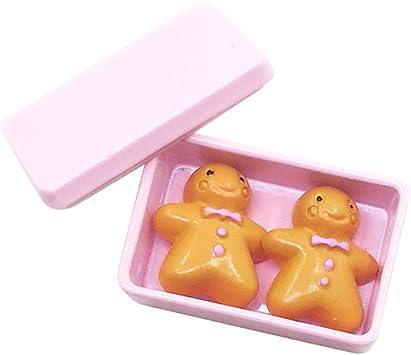 Amazon.es: Escala 1/12 Galletas con Caja de Almacenaje en Miniaturas Accesorio Decorativo de Dollhouse - Rosado: Juguetes y juegos