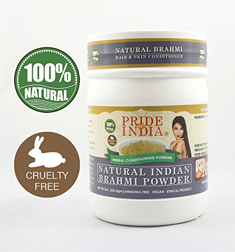 Pride Of India - Indian Brahmi (Bacopa Monnieri) Herbal Hair & Skin Care Powder, Half Pound, 100% Natural - BUY ONE GET 50% OFF 2ND UNIT (Mix and Match - Promo APPLIES at Checkout FOR EVERY 2) (Best Yogurt Brand In India)
