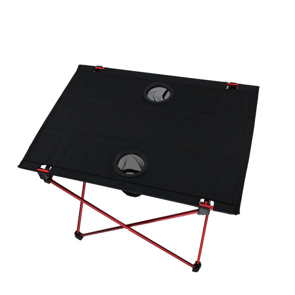 asdomo plegable mesa de camping con portavasos ultraligero portátil para uso en interiores y al aire libre Picnic, playa, Senderismo, Viajes, ...