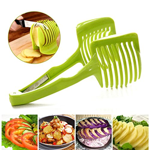 Tomato Slicer ,Multifunctional Handheld Tomato Round Slicer Fruit Vegetable Cutter,Lemon Shreadders Slicer by AppleLand (Image #1)