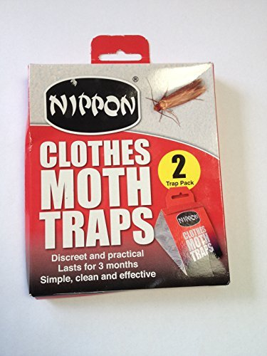 Nippon Clothes Moth Traps Twin Pack - lasts for 3 months