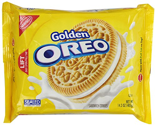 Oreo Golden Sandwich Cookies, 14.3 Ounce (Oreo Vanilla Cookies)