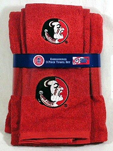 Northwest Florida State Seminoles 3 PC Embroidered Bath Towel Set