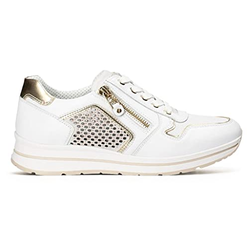 Nero Giardini P805241D scarpe donna sneakers pelle nero