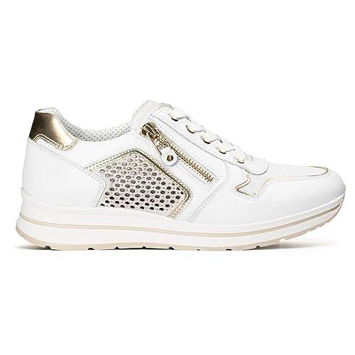 Scarpe Nero Giardini donna sneakers P805241D pelle savana primavera estate 2018