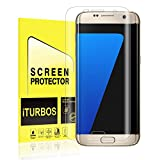 Galaxy S7 Edge Screen Protector [2-Pack], iTURBOS Full Screen Coverage 3D PET HD Screen Protector Film for Samsung Galaxy S7 Edge