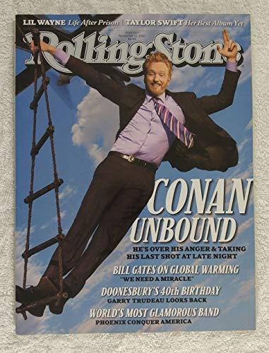 Conan O'Brien - Rolling Stone Magazine - #1117 - November 11, 2010 - Lil Wayne: Life after Prison, Phoenix: The World's Most Glamorous Band - No Address Label!