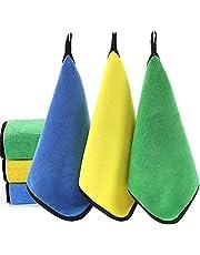 قماش التنظيف غرينستار ستوكات 3 قطع للتلميع والغسيل والغبار نعومة عالية الامتصاص، خالية من الوبر في المنزل، المطبخ، السيارة، النافذة، الهدايا، اكسسوارات التنظيف، 30.48 سم × 40.64 سم