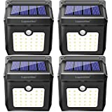 Solar Lights, Luposwiten 28 LED Outdoor Solar Lights with Motion Sensor, 270°Wide Angle Waterproof Wireless Solar Powered Outdoor Motion Sensor Lights for Garden Patio Stair Step Garage(4-Pack)