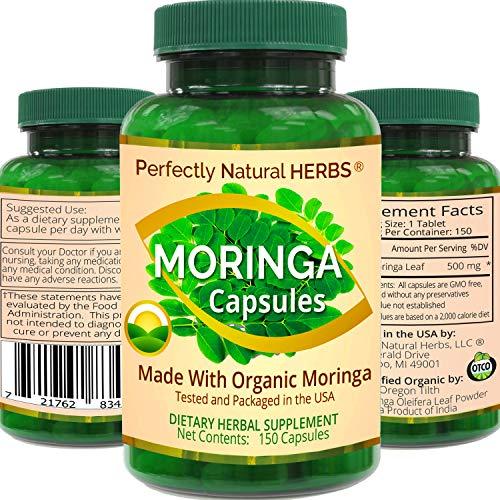 150 Moringa Capsules Made