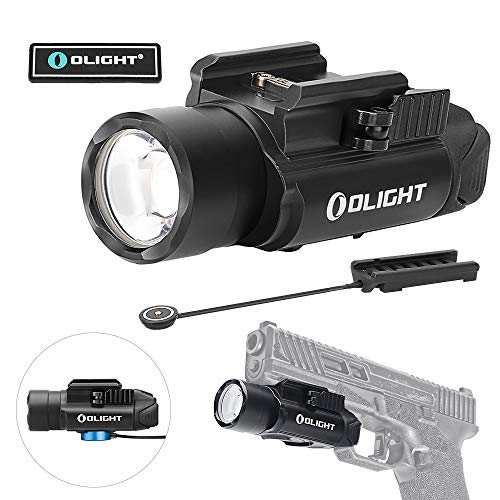 Tactical Pressure Switch Remote - OLIGHT PL-Pro Valkyrie 1500 Lumens Cree XHP 35 HI NW Rechargeable Weapon Mount Tactical Flashlight with Magnetic Remote Pressure Switch (Black)