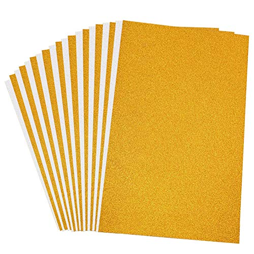 VGOODALL Glitter Paper Cardstock,20 Sheets Silver Gold Glitter Cardstock A4 Size 250gms Craft Paper for Card Making Scrapbooking DIY Craft Projects Birthday Party Decoration ()