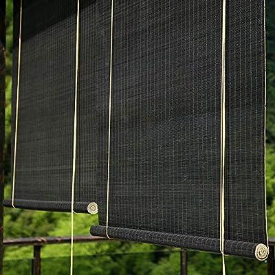 FF Estores enrollables Persianas Enrollables Negras para Exteriores para Pérgola De Patio con Glorieta, Parasol Exterior Opaco, Fácil De Arreglar, 80/100/120/130/140cm De Ancho (Size : 80×100cm): Amazon.es: Hogar
