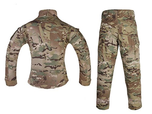 70843b61efd42 ATAIRSOFT Tactical Airsoft Kids Children BDU Hunting Combat Costume Uniform  Shirt & Pants Suit Multicam MC (Not American ...