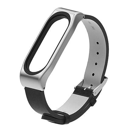 Modaworld _Correa de reloj Pulsera Xiaomi Mi Band 3 Pulsera de Repuesto Banda de reemplazo Correas Hebilla de Metal para XiaoMi Mi Band 3 Reloj ...