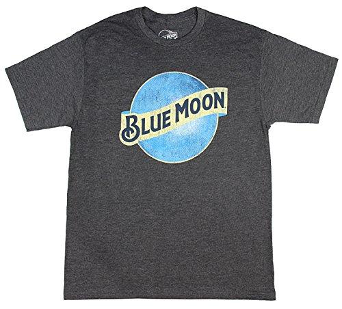 Glass Ale Pub (Blue Moon Brewing Company Men's Charcoal Heather Beer Logo T-Shirt Medium)