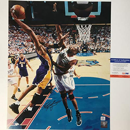 d8346393f78 Autographed/Signed Kobe Bryant Los Angeles Lakers 16x20 Basketball Photo PSA/DNA  COA #4