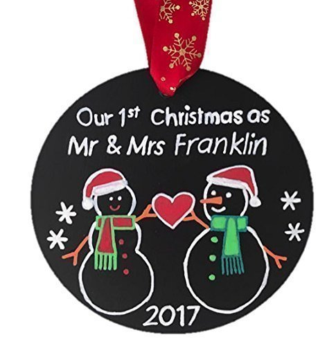 amazon com newlywed ornament our first christmas ornament married