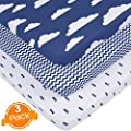 Pack N Play Playard Sheets Set 3 Pack 100 Super Soft Jersey Knit Cotton 150 Gsm Portable Mini Crib Mattress Fitted Sheet For Boys Girls By Baebae Goods