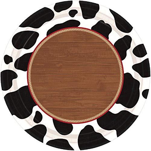 amscan 70s Disco 8 Round Paper Plates 26.6cm