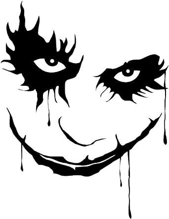 Yshtanj Externe Dekoration Auto Aufkleber Auto Nietzange Zange 10 X 13 Cm Joker Clown Wasserdicht Abnehmbare Auto Styling Fenster Stoßstange Aufkleber Aufkleber Schwarz Beleuchtung