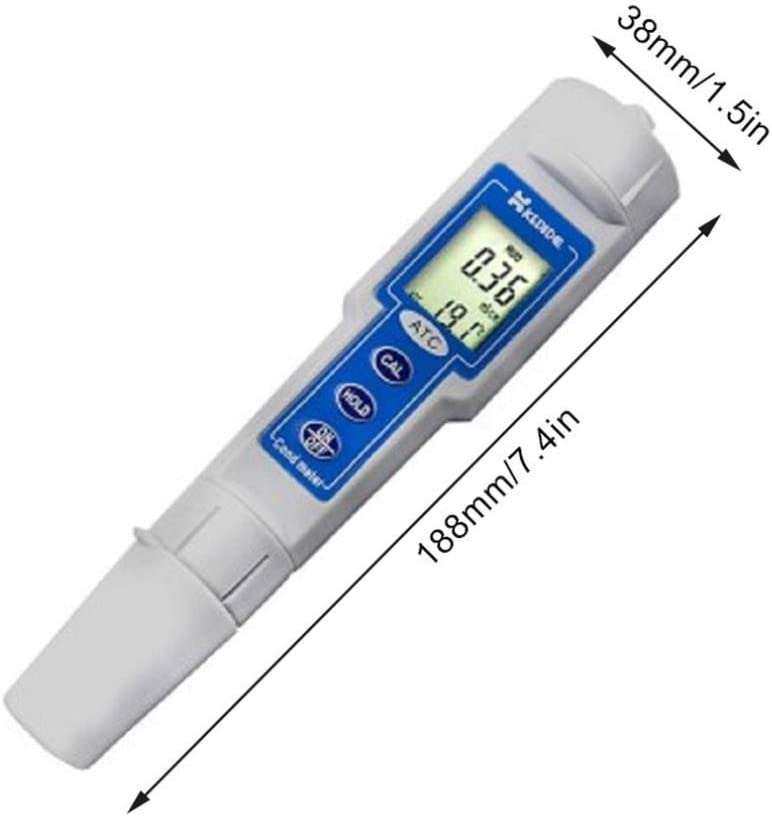 ZGQA-GQA Precise Instrument Pen Conductivity Waterproof Meter Water Hardness Tester Tap Water TDS Water Quality Test Pen Portable EC Instrument CT3030