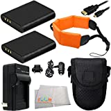 Essentials Kit For Olympus TOUGH TG-1 iHS, TG-2 iHS, TG-2iHS, TG-3 & TG-4 Waterproof Digital Cameras. Includes 2 Replacement Li-90 Batteries + AC/DC Rapid Home & Travel Charger + Micro HDMI Cable + Point & Shoot Case + Floating Strap + MORE