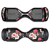 MightySkins Protective Vinyl Skin Decal for Swagtron T1 Hover Board Self Balancing Smart Scooter wrap cover sticker skins Hibiscus