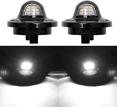 BA-BOLING 6000K Super White 3 LED Housing License Plate Lights for Ford F-150 F-250 F-350 F-450 F-550 Superduty Ranger Pickup Truck Explorer Bronco Excursion Expedition