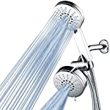 AirJet-500 3-in-1 High Pressure 34-setting Luxury Shower Combo with High-Velocity Flow Accelerator(TM) for More Power with Less Water!Extra-long 6 foot Stainless Steel Hose. All-Chrome Finish
