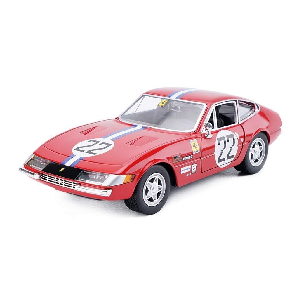 Wsjdmm modellolo 1 24 Ferrari 365 GTB4 modellolo di Auto Sportiva modellolo di Auto Originale in Lega di Simulazione modellolo di Auto Regalo di Compleanno 19x8x5 cm modellolo di Auto Statico Ornamenti in Lega