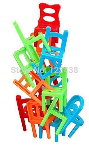 Family Board Game Children Educational Toy Balance Stacking Chairs Stool  Office Game 1setu003d18pcs