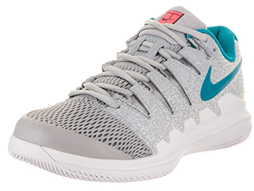 Price comparison product image NIKE Women's Air Zoom Vapor X HC Wolf Grey/Hot Lava White Tennis Shoe 9 Women US