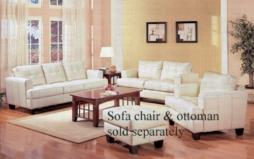 2pc-sofa-loveseat-set-with-wooden-legs-contemporary-white-cream-leather