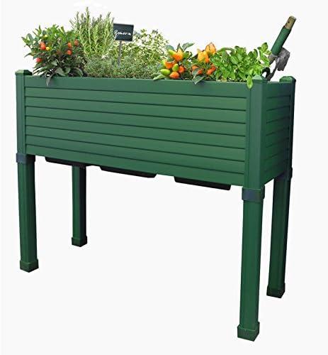 Huerto urbano GREENLAND especial balcón. 90x32x75 cm. Color:Verde ...